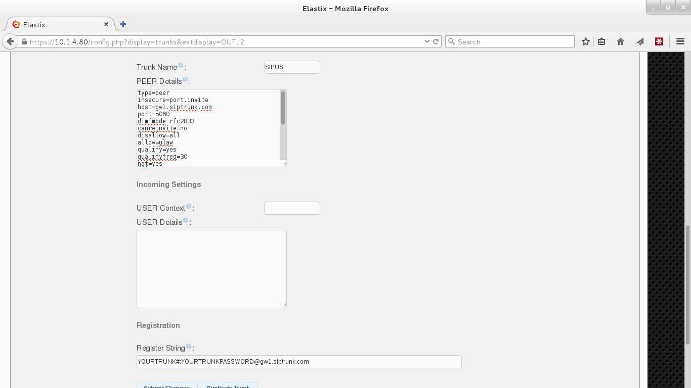 Adding SIPTRUNK COM Trunk to Elastix Manually – Help Center